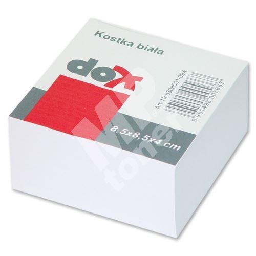 Poznámková papírová kostka velká 8,5 x 8,5 x 5 cm lepená, bílá 1