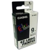 Páska do tiskárny štítků Casio XR-9WE1 9mm černý tisk/bílý podklad