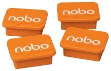 Magnety, oranžová, 4 ks, NOBO 3