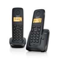 Bezšňůrový telefon Gigaset A120 DUO, černý