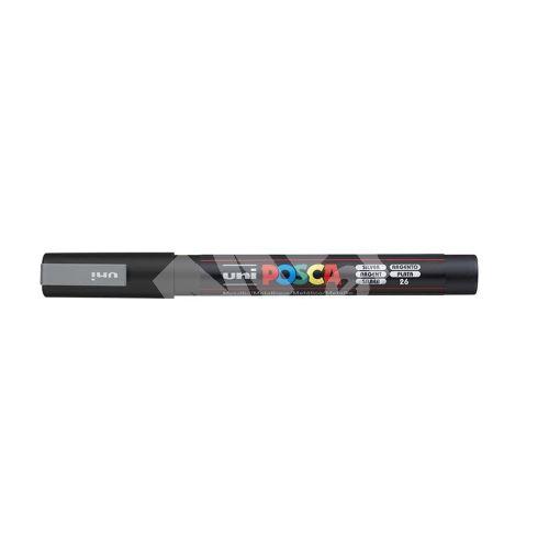 Uni Posca PC-3M akrylový popisovač, 0,9-1,3 mm, stříbrný 1