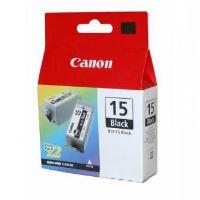 Inkoustová cartridge Canon BCI-15B, černá, 1bal/2ks, originál