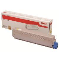 Toner OKI 45862837, MC853, MC873, yellow, originál