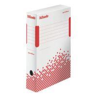 Archivační krabice Esselte Speedbox, 80 mm, bílá/ červená