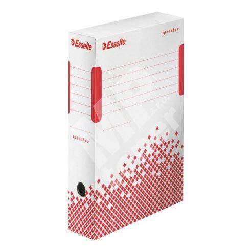 Archivační krabice Esselte Speedbox, 80 mm, bílá/ červená 1