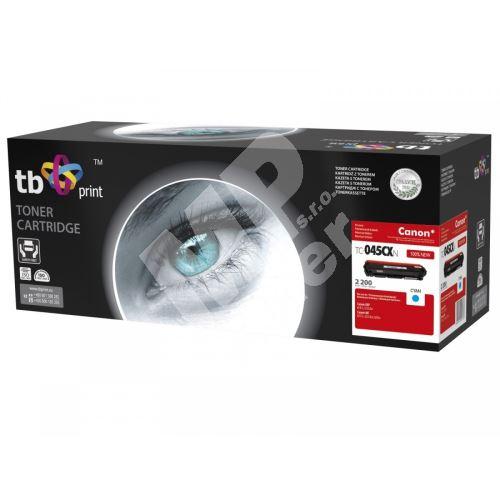 TB toner kompatibilní s Canon 045H, TC-045CXN, Cyan, 2200, new 1