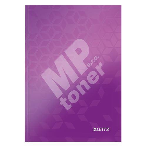 Zápisník Leitz WOW A5, linkovaný, purpurový 1