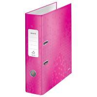 Pákový pořadač Leitz 180 Wow, růžový, lesklý, 80 mm, A4, PP/karton