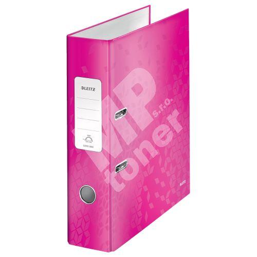 Pákový pořadač 180 Wow, růžová, lesklý, 80 mm, A4, PP/karton, LEITZ 1