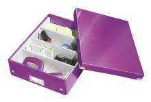 Archivační organizační box Leitz Click-N-Store M (A4), fialový