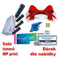 Sada tonerů HP CB540-3A, CMYK, MP print + dárek dle výběru