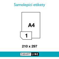 Samolepící bílé etikety Smart Line A4 210 x 297 mm 100 archů