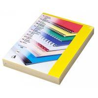 Přední fólie pro kroužkovou vazbu PRESTIGE, A4, 200 mic, žlutá, 100 ks