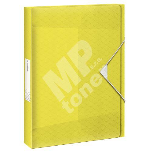 Box na spisy s gumičkou Esselte Colour Ice, žlutá, 25 mm, PP, A4 1