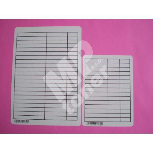 Podložka PVC A4 linka, oboustranný tisk (lenoch) 1