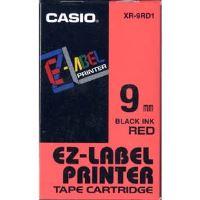 Páska do tiskárny štítků Casio XR-9RD1 9mm černý tisk/červený podklad