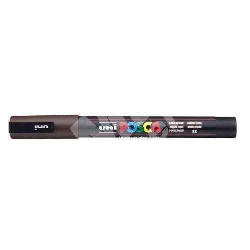 Uni Posca PC-3M akrylový popisovač, 0,9-1,3 mm, tm. hnědý 1