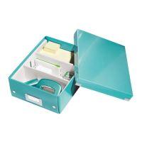 Archivační organizační box Leitz Click-N-Store S (A5), ledově modrý