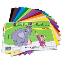 Kreslící karton A4, 180g, mix 12 barev, 60 listů