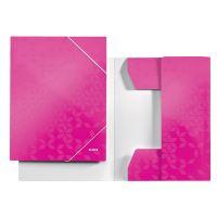 Tříchlopňové desky Leitz WOW A4, růžové 3