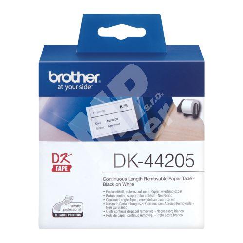 Role papírová Brother DK44205, 62mm x 30.48m, bílý, snímatelná, 1 ks 3