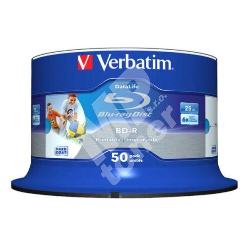 Verbatim 25GB BD-R SL, Hard Coat Wide Inkjet Printable, spindle, 43812, 6x, 50-pack 1