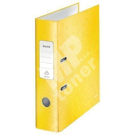Pákový pořadač 180 Wow, žlutá, lesklý, 80 mm, A4, PP/karton, LEITZ 1