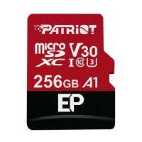 256GB Patriot microSDXC V30 A1, class 10 U3 100/80MB/s + adapter