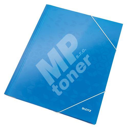 Tříchlopňové desky Leitz WOW A4, modré 1
