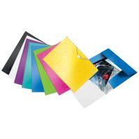 Desky s gumičkou Leitz Wow, A4, PP, žlutá 4
