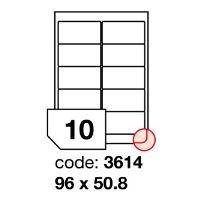 Samolepící etikety Rayfilm Synthetic 96x50,8 mm 100 archů, polyesterové, R0502.3614A