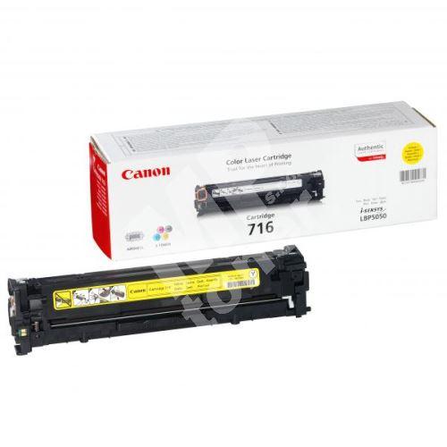 Toner Canon CRG-716Y, LBP-5050, 5050n, yellow, 1977B002, originál