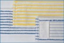 Úklidový mop 40x13cm, mikrovlákno, modro-bílý s kapsami