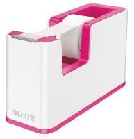 Stolní odvíječ lepicí pásky Leitz Wow, plast, růžový