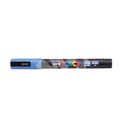 Uni Posca PC-3M akrylový popisovač, 0,9-1,3 mm, nebesky modrý 1