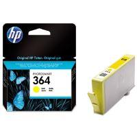 Inkoustová cartridge HP CB320EE Photosmart B8550, C5380, žlutá, No. 364, originál