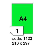 Samolepící etikety Rayfilm Office 210x297 mm 100 archů, matně zelená, R0120.1123A