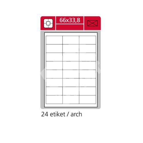 Samolepící etikety SK LABEL A4 66 x 33,8 mm 1