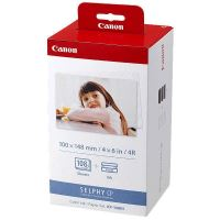 Canon KP-108IN, Color Ink Set, KP108IN, CP100, 220, 300, 100 x 148 mm, lesklý, bílý
