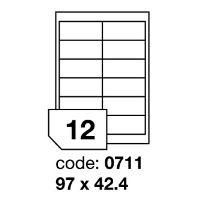 Samolepící etikety Rayfilm Office 97x42,4 mm 100 archů R0100.0711A
