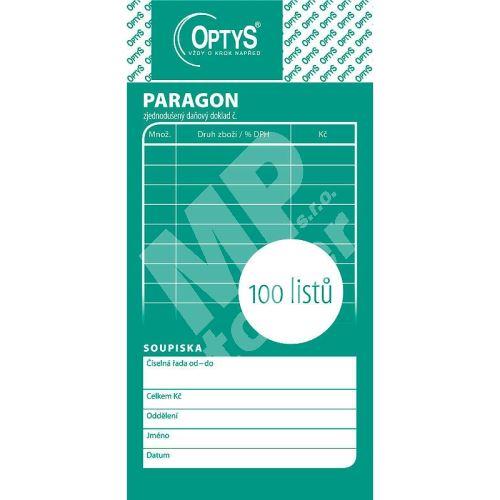 Obchodní paragon nečíslovaný, 100 listů, OP1070 1