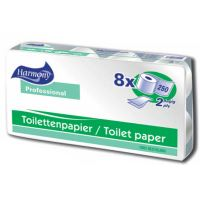 Papír toaletní Harmony Professional, 2 vrstvy, bílé 50% (8)