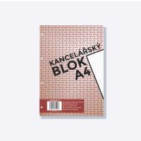 Kancelářský blok Bobo A4, 50 listů, 4 díry, linka