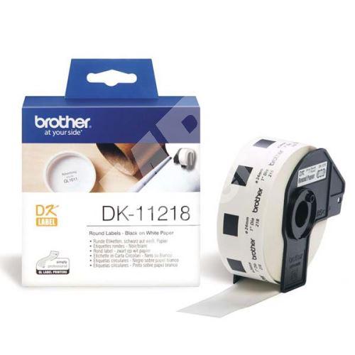 Štítky papírové Brother 24mm, bílá, 1000 ks, DK11218 1