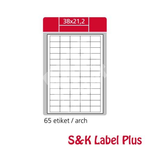 Samolepící etikety SK LABEL Plus A4 38 x 21,2 mm 1
