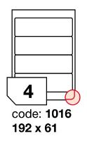 Samolepící etikety Rayfilm Office 192x61 mm 300 archů, inkjet, R0105.1016D