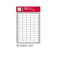 Samolepící etikety A4 SK LABEL 38 x 21,2 mm, 100 archů