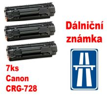 7ks kompatibilní toner Canon CRG-728 MP print + dálniční známka