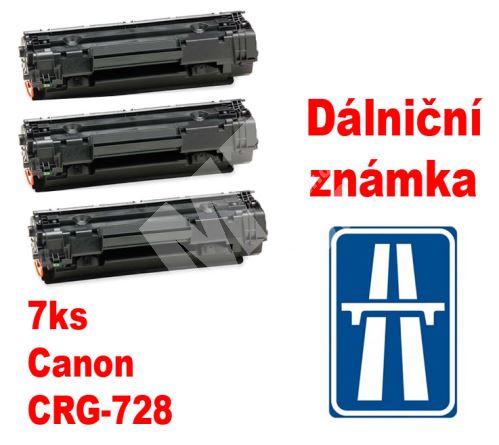 7ks kompatibilní toner Canon CRG-728, MP print + dálniční známka 1