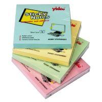 Samolepící bloček Auro 75x75mm, žlutý, 100 lístků